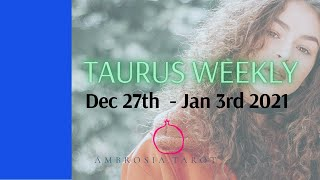 Taurus (You're going to scratch that itch & wish you hadn't)Weekly Love Check+Singles Dec 27-Jan 3