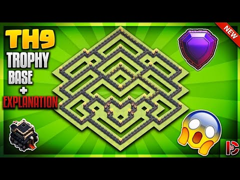 INSANE TOWN HALL 9 (TH9) TROPHY BASE/DEFENCE BASE GUIDE 2019 - Clash Of Clans