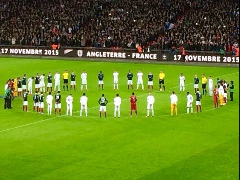 Emotional Moment - The Anthems - England vs. France 2:0