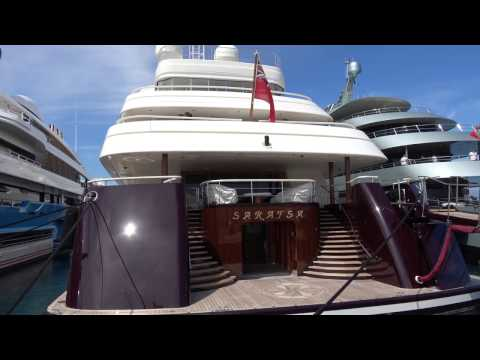 [4k] Superyachts in Antibes, YCA Southern France April 2016 in Ultra HD 4k