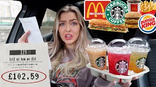 Letting The Person in FRONT of me DECIDE What I EAT for 24 HOURS *awkward*