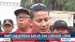 Sandiaga Uno Kirim Bantuan untuk Korban Banjir dan Longsor di Banten