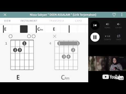 Kunci Gitar (Sabyan - Deen Assalam)