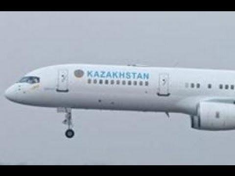 ✈[Full HD] RARE B752 Kazakhstan Government - foggy Approach into Hamburg