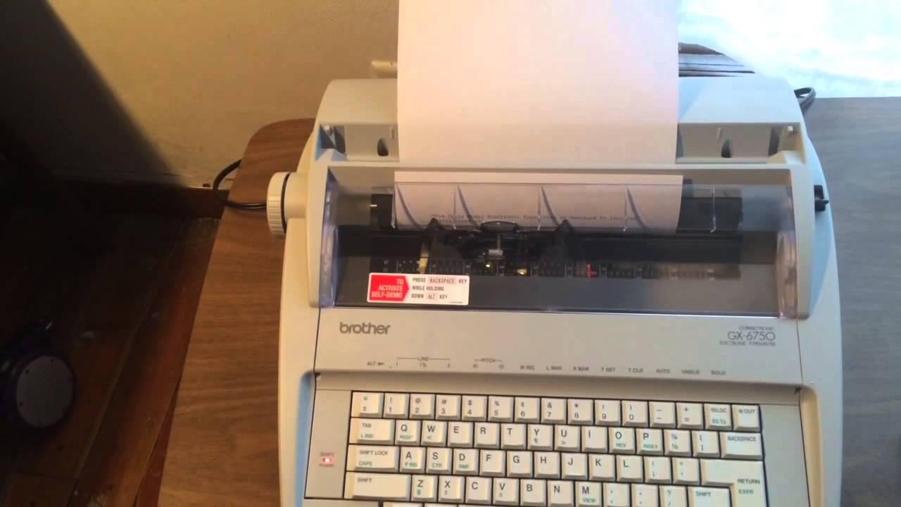 brother correctronic gx 6750 electronic typewriter self demo youtube rh youtube com typewriter brother gx 6750 user manual brother gx-6750 portable electronic typewriter manual