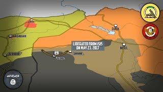 1 июня 2017. Военная обстановка в Сирии и Ираке. Бои за границу с Сирией. Русский перевод.