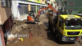 Maltempo, colate di fango a Teglio: frana tra le case