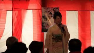 歌手の鳳城朋美さんのイメージソング「あさがおの花」。2014年2月...