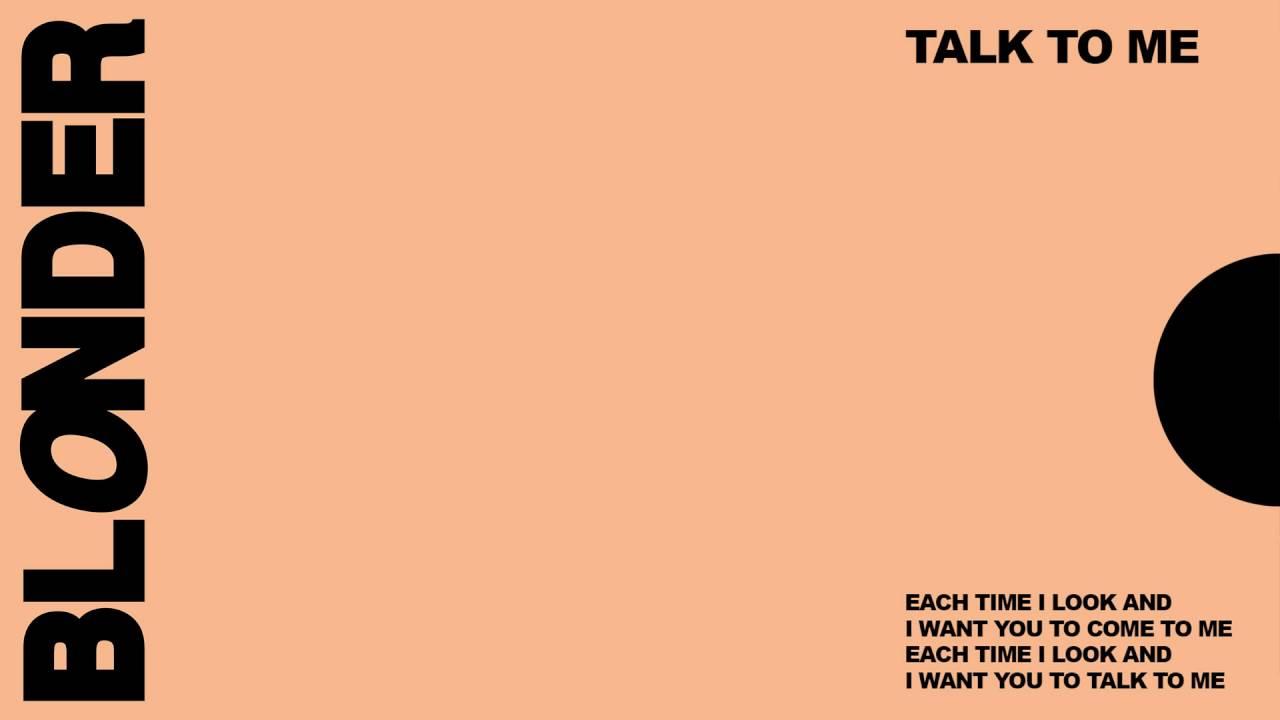 Download Blonder - Talk To Me