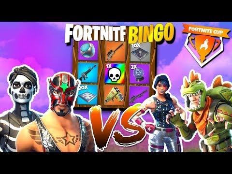 2 tegen 2 Fortnite Bingo! 🔥 - Fortnite Cup Mini-game ft Roedie Duncan Joost