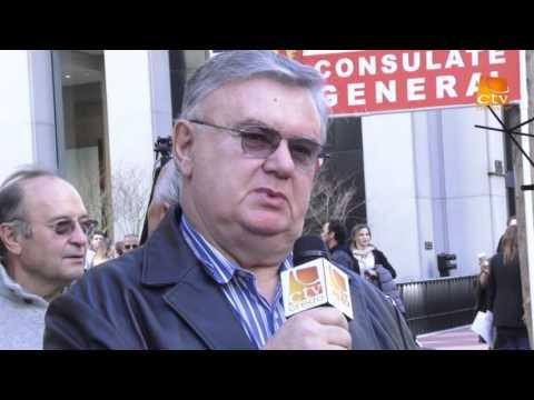 Pastorul PETRU LASCAU la protestul de la San Francisco