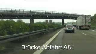 Drei mal Blitzer A8 Stuttgart Leonberg + interessante Fahrt 30 April 2013