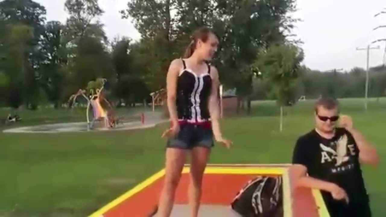 girl kicks guy balls