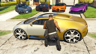 GTA 5 Stealing Super Cars with Franklin #8 (GTA 5 Expensive Cars)