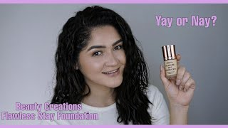 Beauty Creations Flawless Stay Foundation Primera impresion/ First Impression Review