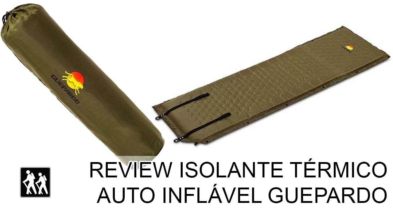 fd7ee09da Review Isolante Térmico auto inflável Guepardo - YouTube