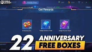 HOW TO GET 24 GÏFT BOXES FROM ANNIVERSARY BOX EVENT | FREE 2 EPIC SKINS DRAW | MLBB
