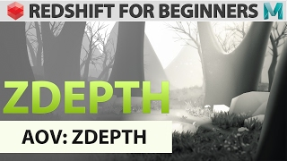 Redshift For Beginners - AOV -  Zdepth