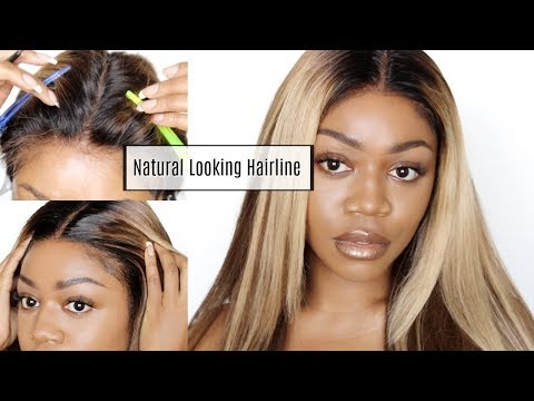 How To Apply Wig Slightly Behind Natural Hairline | Ft. RPGshow Tinted Transparent Swiss Lace