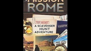 Free PDF Mission Rome: A Scavenger Hunt Adventure (Travel Book For Kids)