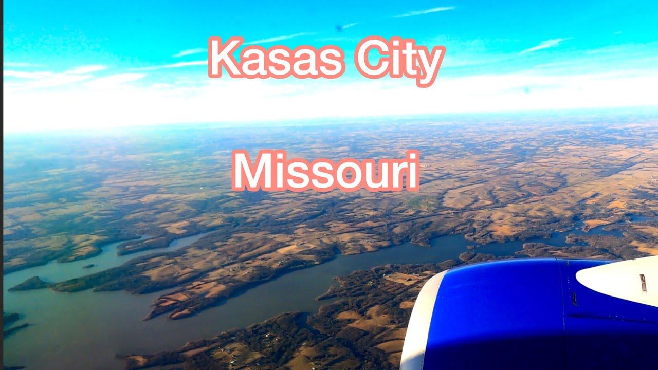 Airplane Landing At Kansas City International Airport (MCI)