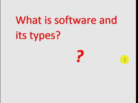 What is software and its types