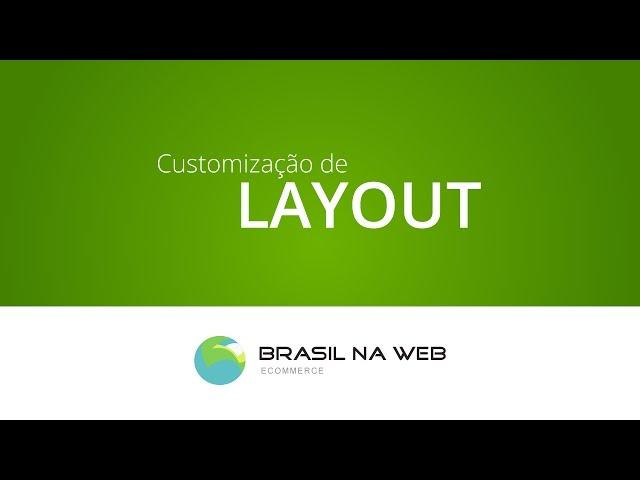 Como Personalizar Visual da Loja Virtual - Brasil na Web