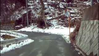 群馬県 霧積温泉きりづみ館から国道18号線との合流地点までの車載動画で...