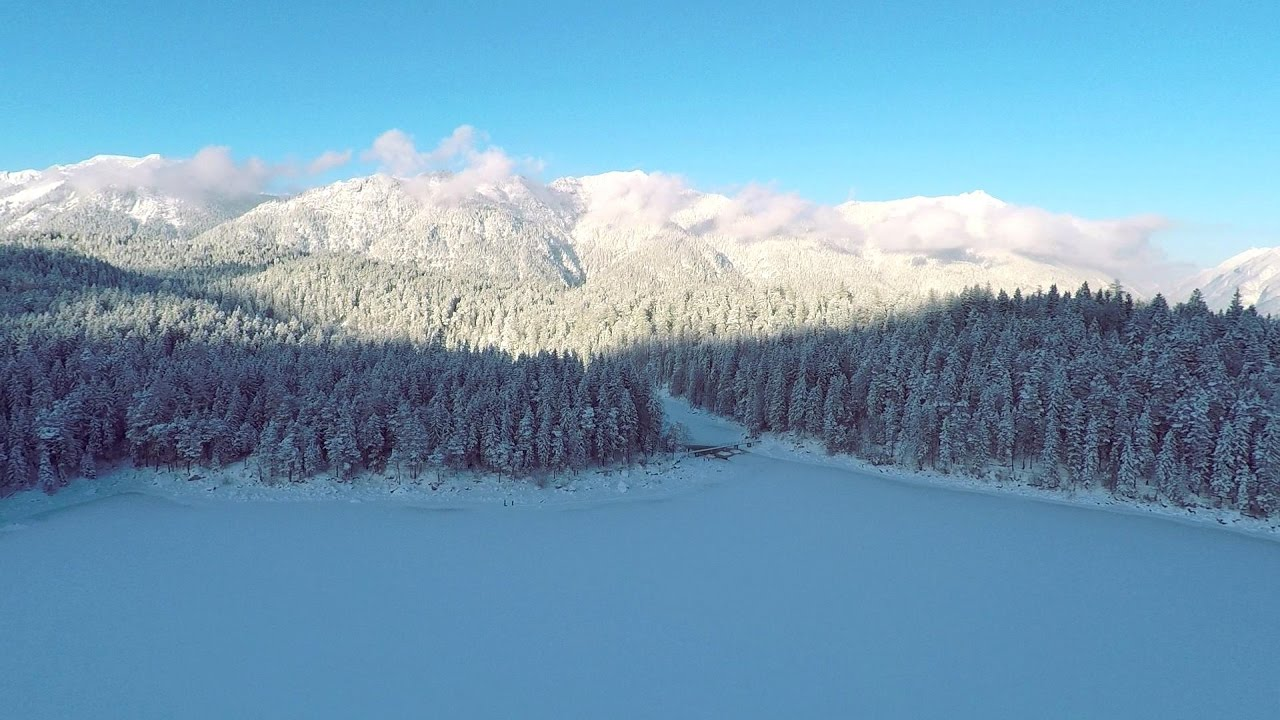 Eibsee Lake - Winter Edition | The Winter in Germany - YouTube
