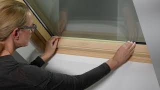 Ремонт лакокрасочного покрытия деревянного окна ВЕЛЮКС