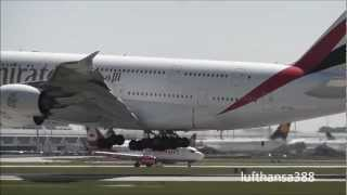 100th VIDEO Heavy Planes at Munich Airport (A380, A340, B777)