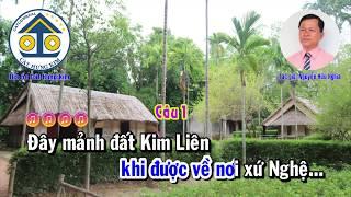 Karaoke: VỀ THĂM QUÊ BÁC - Dây Kép - Tác giả: Nguyễn Hữu Nghĩa