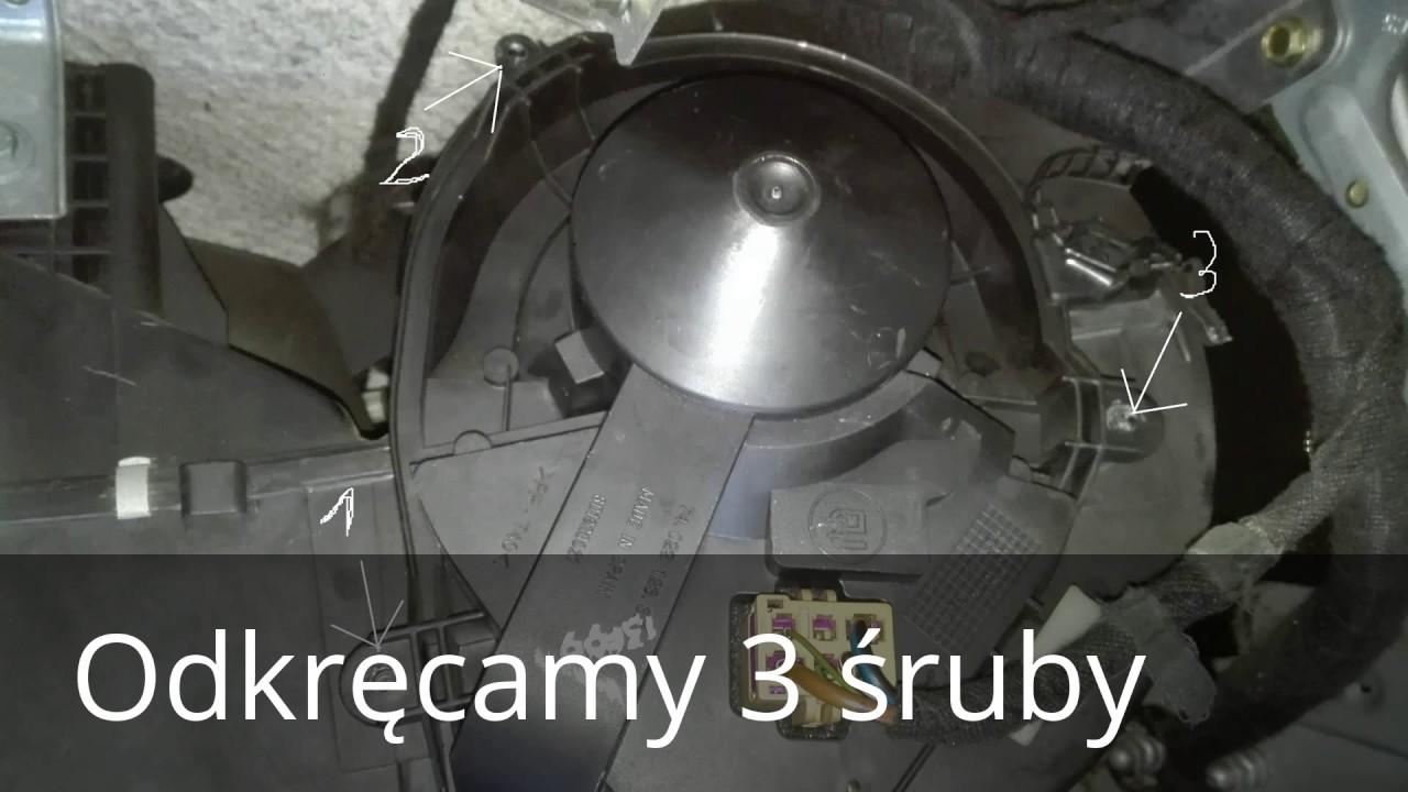Jak Zdemontować Wentylator Nawiewu Audi A4 B5 Youtube