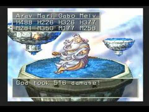 Dragon Quest VII (PS1) Secret Boss - God