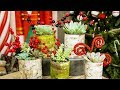 How to make birch wood tin can planters for Christmas