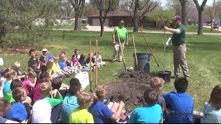 Gates Kids Plant Tree For Arbor Day