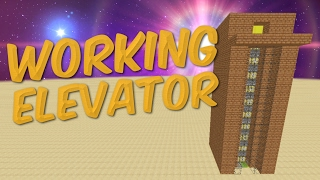 HOW TO MAKE AN ELEVATOR IN MINECRAFT | Minecraft Tutorial REDSTONE | Working Redstone Elevator