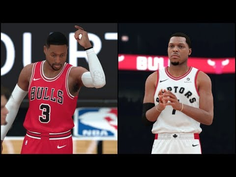 NBA 2K18 Gameplay Chicago Bulls vs Toronto Raptors (United Center) Full CPU vs CPU Game