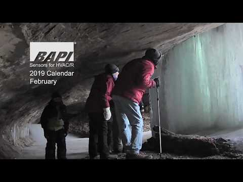 BAPI 2019 Calendar, February - Wisconsin Ice Caves