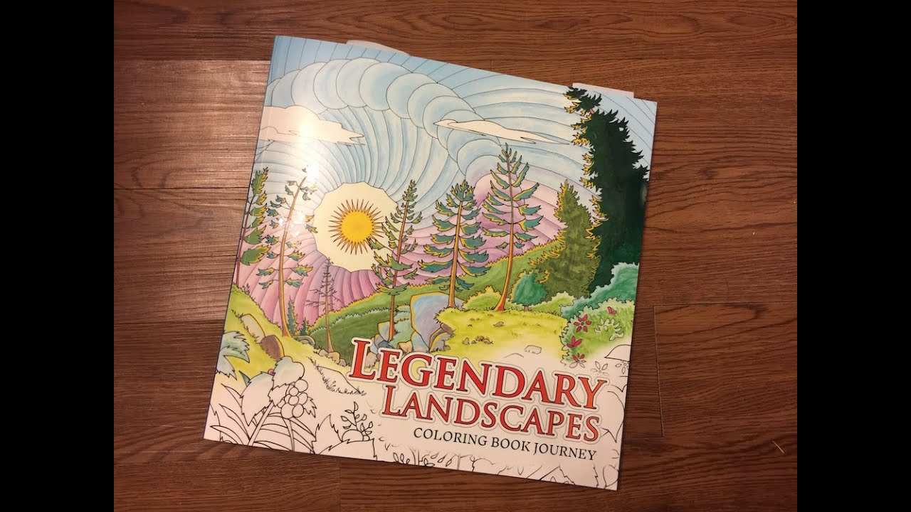 Coloring Book Review Legendary Landscapes By ColorWorth