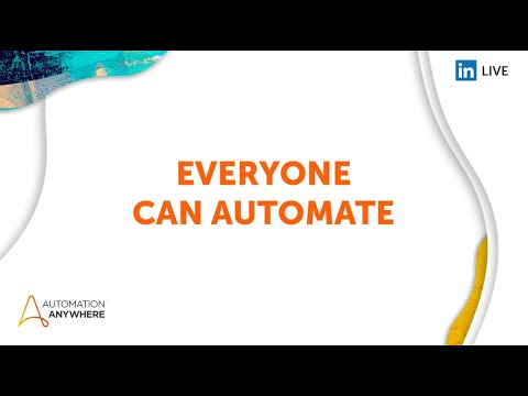 Everyone can Automate 2021 Day 1 - Welcome