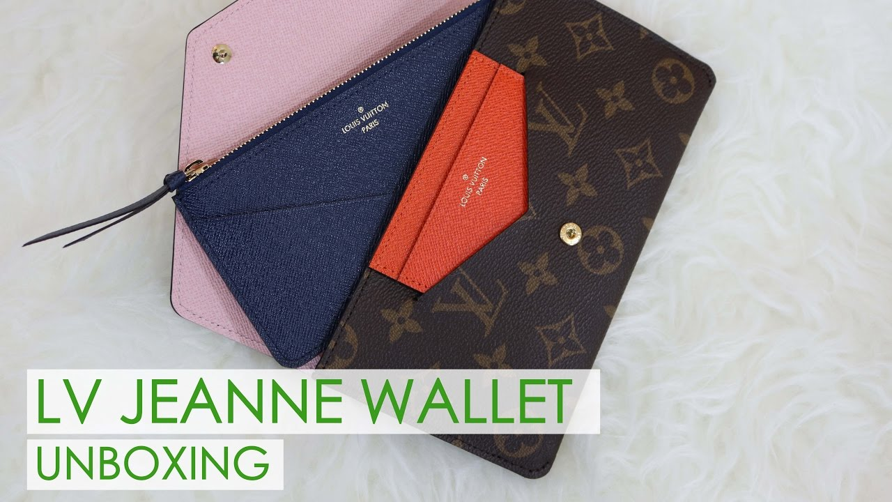 16a0ffd4e683 LV Jeanne Wallet Unboxing - YouTube