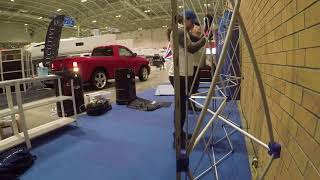 Oh the fun of #TOBoatShow Setup