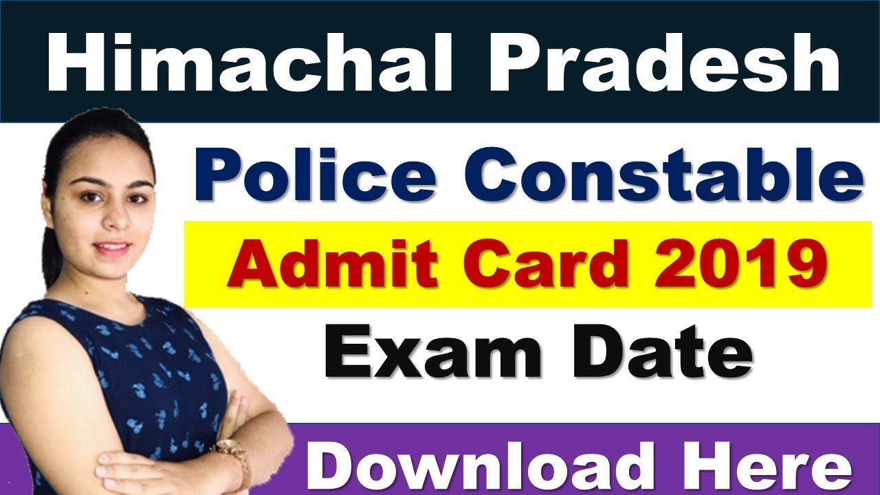 HP Police Admit Card 2019 Download For 1063 Posts Constable Exam