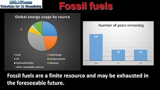 C.2 Advantages and disadvantages of fossil fuels (SL)