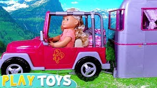Our Generation baby doll camping caravan car toys play! 🎀
