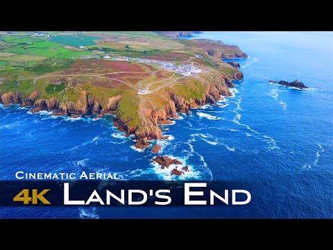 LAND'S END 4K Drone | England UNITED KINGDOM