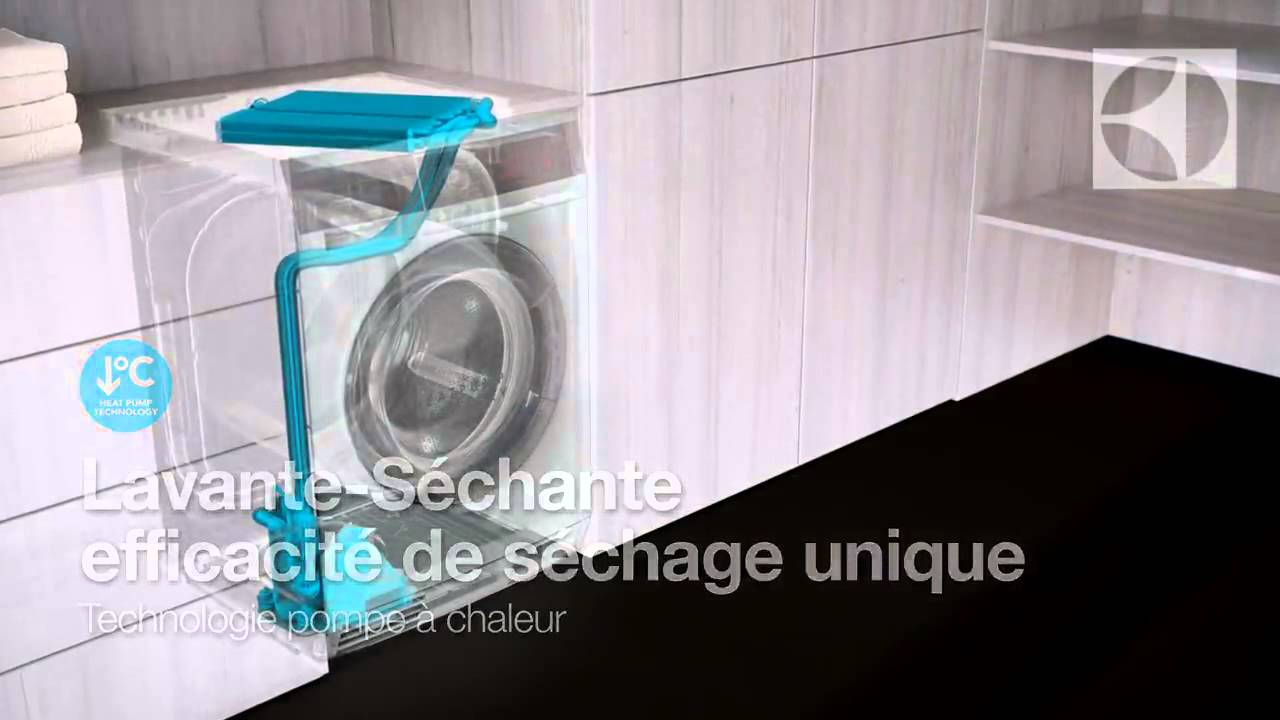 kokombi le lave s che linge d electrolux youtube. Black Bedroom Furniture Sets. Home Design Ideas