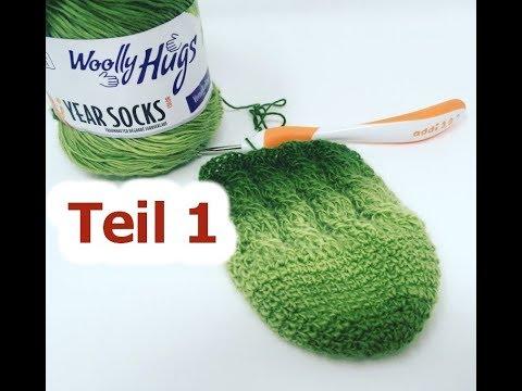 Socken Häkeln Einfach Mit Zöpfen Teil 1 Mit Year Socks Von Woolly