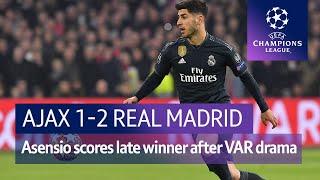 Ajax vs Real Madrid (1-2) | UEFA Champions League Highlights